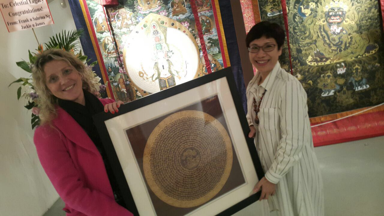 Visit to Charitable Exhibition dedicated to the Tibetan Thanga (Hong Kong)